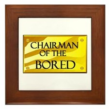 CHAIRMAN OF BORED Framed Tile