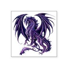 "Draconis Nox Dragon Square Sticker 3"" x 3"""