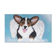Tri Angel Baby Rectangle Car Magnet