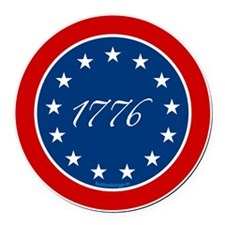 btn-patriot-1776-13stars Round Car Magnet