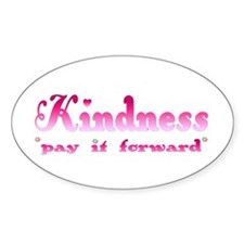 KINDNESS-pay it forward Oval Decal