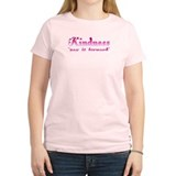KINDNESS-pay it forward Women's Pink T-Shirt