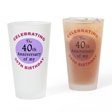 anniversay3 70th Drinking Glass