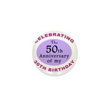anniversay3 80th Mini Button