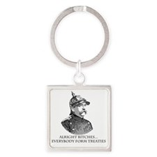 Bismarck_Treaties Square Keychain