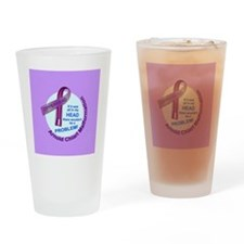 ButtonChiariAwareness Drinking Glass