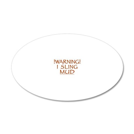 mudslinger 20x12 Oval Wall Decal