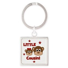 Monkey_LittleCousin_girl Square Keychain