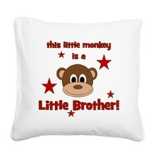 thislittlemonkey_littlebrothe Square Canvas Pillow