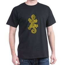 Ethnic Lizard Yellow T-Shirt