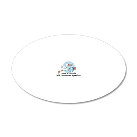 stork baby guat 2 20x12 Oval Wall Decal