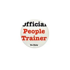 people-trainer-dog-shirt Mini Button