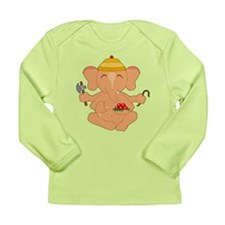 7x7_apparel_CuteGanesha Long Sleeve T-Shirt