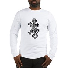 Ethnic Lizard Black Long Sleeve T-Shirt