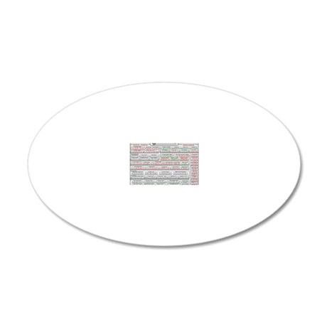 usDebt2911 20x12 Oval Wall Decal