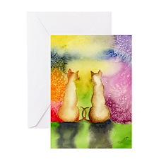 Watercolor Kitties Greeting Card