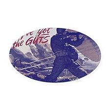 airborne_poster Oval Car Magnet