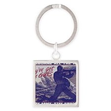 airborne_poster Square Keychain