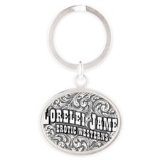 2-ROUGH RIDERS 6 BW Oval Keychain