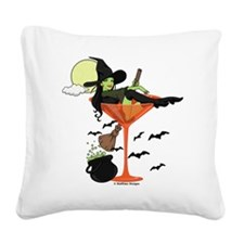 Halloween Martini Square Canvas Pillow