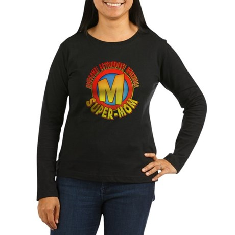 Super Mom Women's Long Sleeve Dark T-Shirt