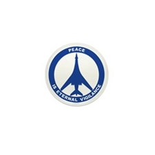 Peace Is Eternal Vigilance - B-1B Blue Mini Button