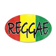 Reggae flag burlap crush-fad Wall Decal