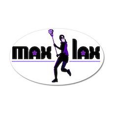 2-max_lax_purple 35x21 Oval Wall Decal