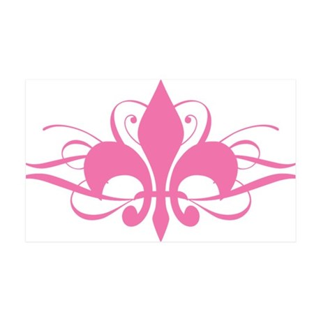 Fleur De Lis Swirls Pink Wall Decal By Admin Cp3269