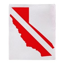 CA Dive Flag 1.gif Throw Blanket