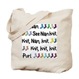 """See Nan Knit"" Personalized Tote Bag"