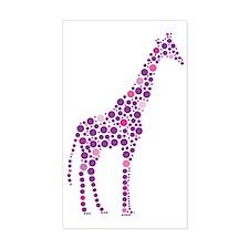 Purple Giraffe Decal