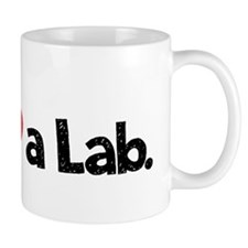 Love a Lab-choc-wide Small Mugs