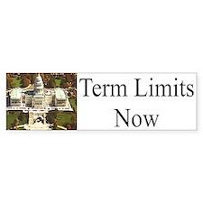 Term Limits Now Bumper Car Sticker