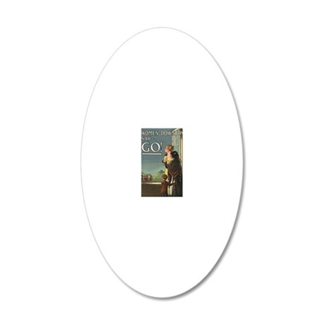 Women of Downton 20x12 Oval Wall Decal