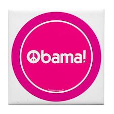 2-btn-obamapeace-pink Tile Coaster