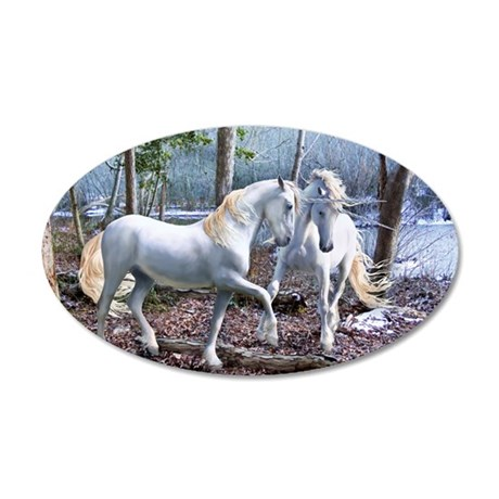 Unicorn Reuion 35x21 Oval Wall Decal