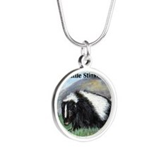skunk3xbutton Silver Round Necklace