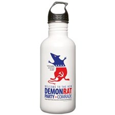 DEMONRATLOGO3verTB2Ked Water Bottle