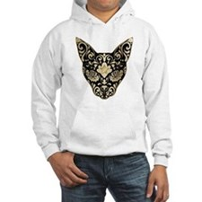 Gold and black mystic cat Hoodie