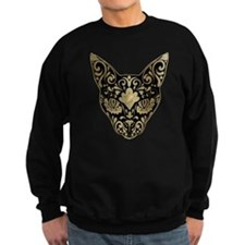 Gold and black mystic cat Sweatshirt