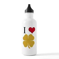 I heart Shamrock 1 Water Bottle