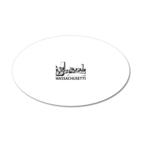 Massachusetts1 20x12 Oval Wall Decal