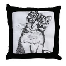 Cuddly Kitten by Kimberly Rex Throw Pillow