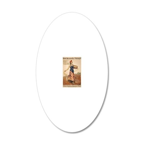 73 victory garden poster 3 20x12 Oval Wall Decal