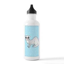 Silver Ferret Blue Sta Water Bottle