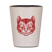 Cheshire Cat Red Shot Glass