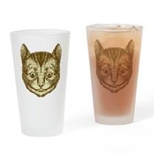 Cheshire Cat Sepia Drinking Glass