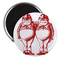 Tweedle Dee and Tweedle Dum Red Magnet