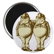 Tweedle Dee and Tweedle Dum Sepia Magnet